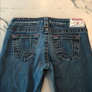 True Religion women's skinny Capri jeans